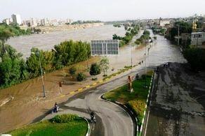 وقوع سیل در فیروزکوه