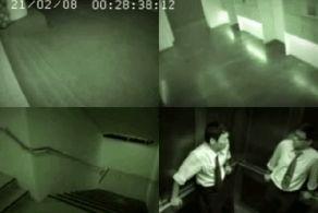 حمله وحشتناک روح به افرادی که از پله بالا می روند + عکس