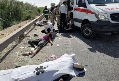 5 کشته و مصدوم در واژگونی هولناک پژو پارس