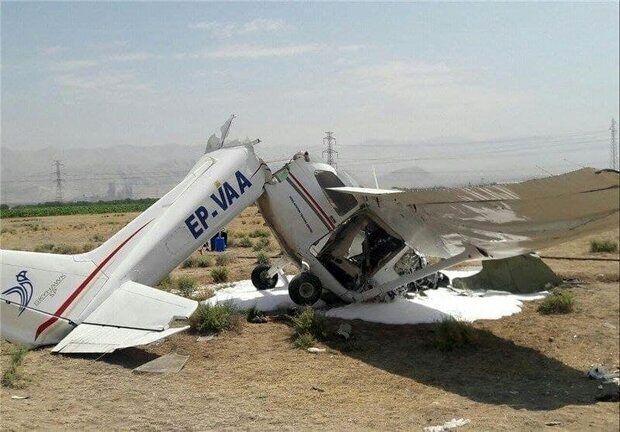 اولین تصاویر از سقوط عجیب هواپیما در نوشهر+ فیلم