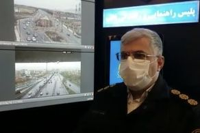 سقوط عجیب خودرو ساندرو به خط ویژه بزرگراه امام علی (ع)