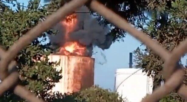 آتش به جان مخازن نفتی افتاد!+ فیلم