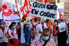 فرانسه نا آرام شد/کادر درمان به خیابان ریختند