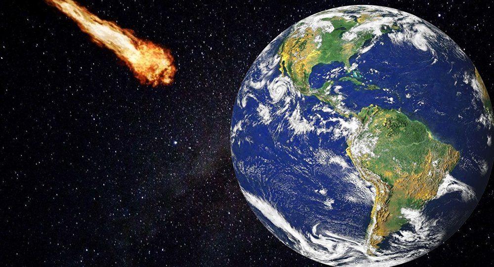 نزدیک شدن یک شهاب سنگ بسیار بزرگ به زمین