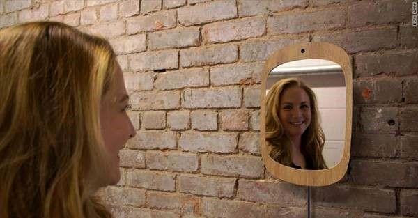 این آینه مخصوص فقط بعداز لبخند کار میکند!+عکس