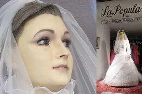 جسد دختر زیبا تبدیل به مانکن عروس شد! + عکس