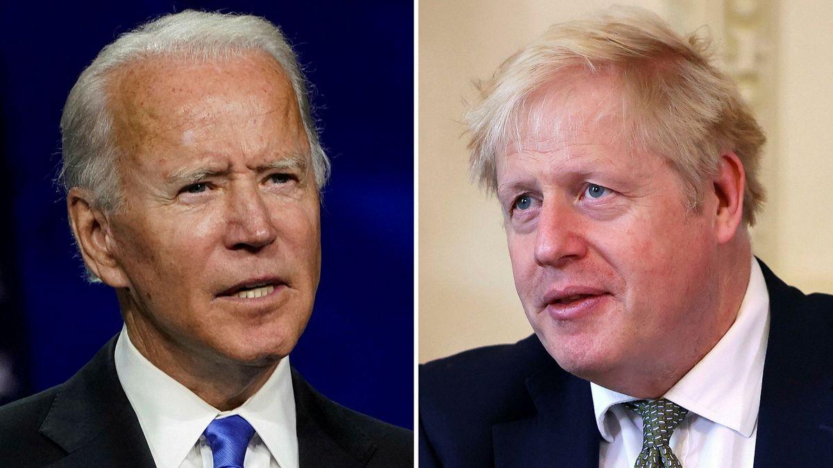 هشدار بایدن به نخست وزیر انگلیس