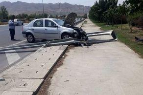 تصادف شدید سواری ال نود با گاردریل